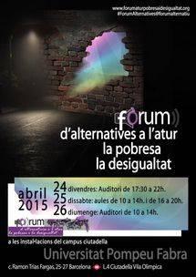 Cartel Forum alternativas a la pobreza, el paro